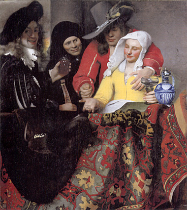 World art treasures vermeer l 39 entremetteuse for Biographie de vermeer